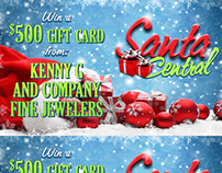 Santa Central Web Promotional Graphics