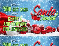 Santa Central Web Promotional Graphics