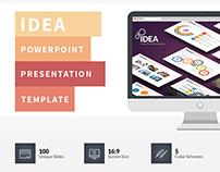 Idea Flat PowerPoint Presentation Template