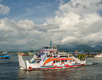 ... at Bali Strait