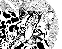 Leopard Pen Illustration