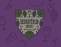 Logo & style guide for a wine bar DEGUSTERIJA ARTISTI