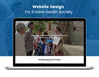 Enabled Health Society NGO Website Branding & Marketing