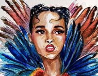 FKA Twigs Watercolour