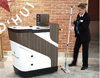 Four Stars Cleaning Trolley for luxury malls