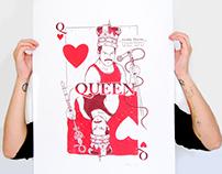 """Serigraphie freddie Mercury """"Queen"""""""
