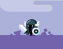 Flat Design Video Game Character