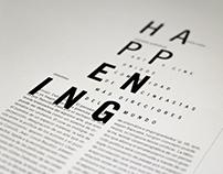 Programa editorial / Happening