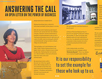 Dean's Letter to Alumni - Magazine Centerfold