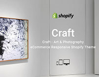 Craft – Art & Photography Responsive Shopify theme