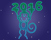 FREE PSD and Illustration of Happy New Year 2016