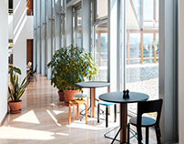 Vitra Headquarters Lobby | Frank Gehry, Sevil Peach