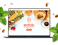 Food delivery. Landing page
