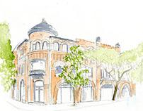 Architecture Watercolor Renderings
