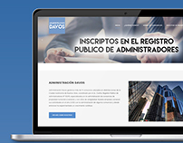Administración Davos |Diseño Web WordPress
