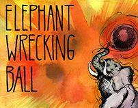 Elephant Wrecking Ball – Live CD art & packaging