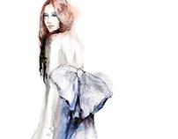 Oscar de la Renta fashion illustration