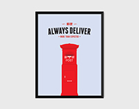 Japan Post Mailbox Print