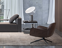 Minotti inspired interior - Full CGI