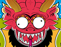 Diablada Cartoon Mask