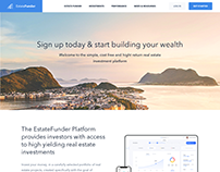 Estatefunder Website Landing Page