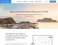 Estatefunder Website Landing Page