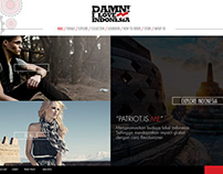 Website Design (DAMN I Love Indonesia)