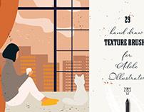 Vector Texture Brushes By:Jenteva ART