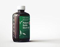 Amber POISON Bottle Mock-Up