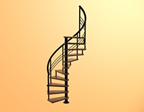 Spiral Stairs l 3D Model