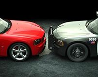Racer VS Cop CGI