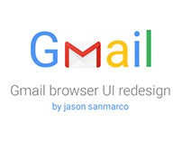Gmail user interface Re-design concept