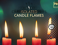 4 Isolated Candle Flames