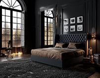 Classic Black Bedroom