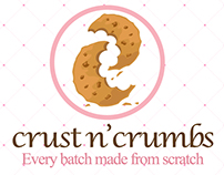 Crust 'n Crumbs Business Card Study