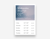 Weather - #DailyUI #037
