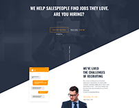 Initial Version - Landing Page for Job Recruitment App