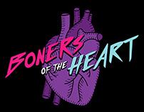 Boners of the Heart Podcast Logo & Merch