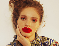 ULTIMATE RED LIP editorial for Material Girl Magazine