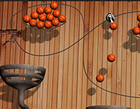 Robot Basketball Game Art