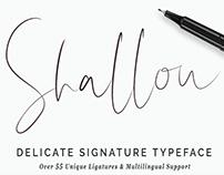 SHALLOU - FREE HANDMADE BRUSH FONT
