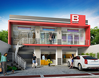 Arguelles ungson architects on behance for 3 storey commercial building design