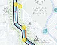 Corredor verde La Picacha en Medellín / Infografía