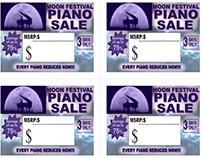 Sales Tags - Hollywood Piano...
