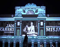 Jan Karski projection mapping