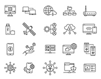 20 Networking Vector Icons