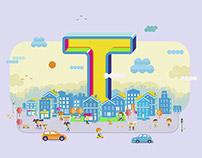"""Neighborhood for """"T"""""""