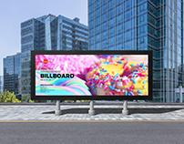 Free Roadside Advertisement Billboard Mockup