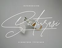 Saturasi Signature Typeface