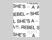 She's A Rebel Event Poster